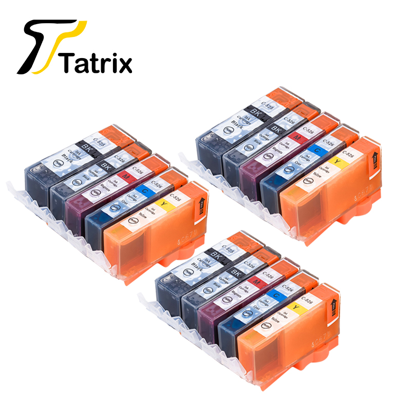 15 PCS For Canon PGI 525 CLI 526 Compatible Ink Cartridge ...
