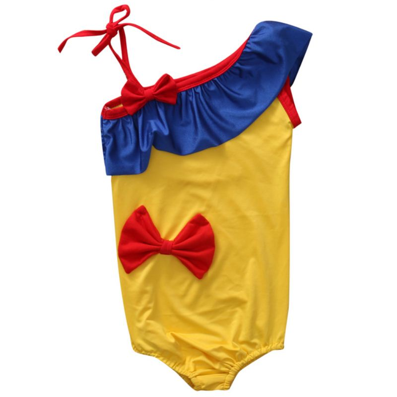 Cute Toddler Kids Girl One-piece Swimsuit Swimwear Swimming Costume Bathing Suit Snow white New Arrival 2017