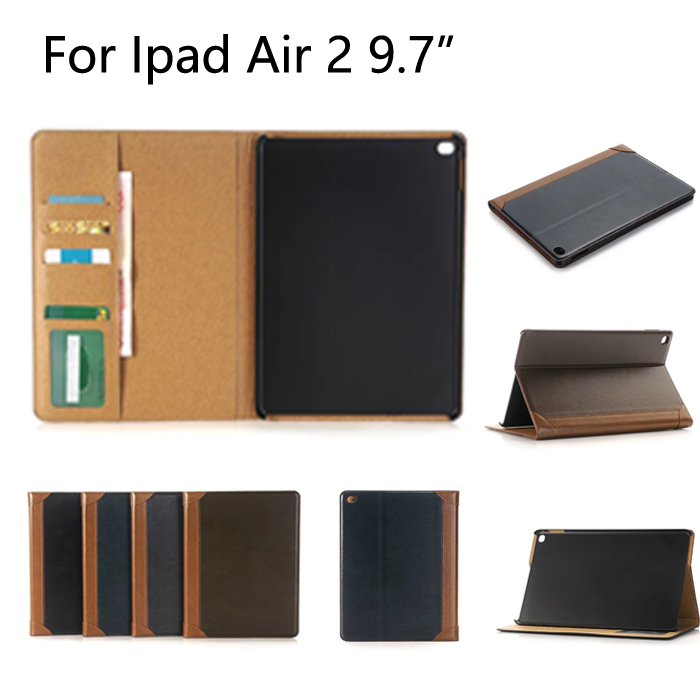 High Quality Case for iPad Air2 PU Leather stand Cover for A1566 A1567 with wallet Card Slots Sleep/ Wake up Function+gifts sgl luxury ultra smart stand cover for ipad air 1 ipad5 case luxury pu leather cover with sleep wake up function for ipad air1