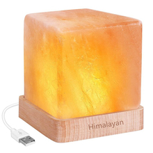 LED Night Light USB rechargeable Himalayan Salt Lamp Air Purifier Crystal Salt Rock Night Lamp For Office Desk Bedside Bedroom(China)