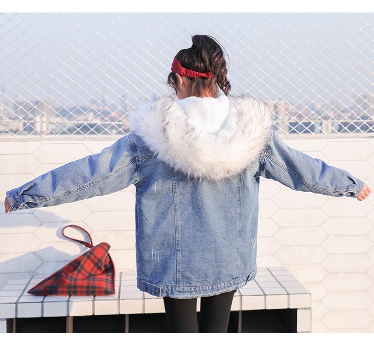Chaud De Coréenne Hiver Manteau 4 Outwear Jeans Avec 2 Denim