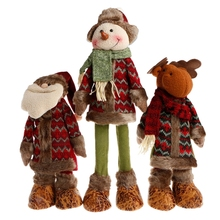 1PC Stretchable Santa Claus Snowman Reindeer Doll Christmas Tree Hanging Decoration For Home Xmas Happy New Year Gift #081825#