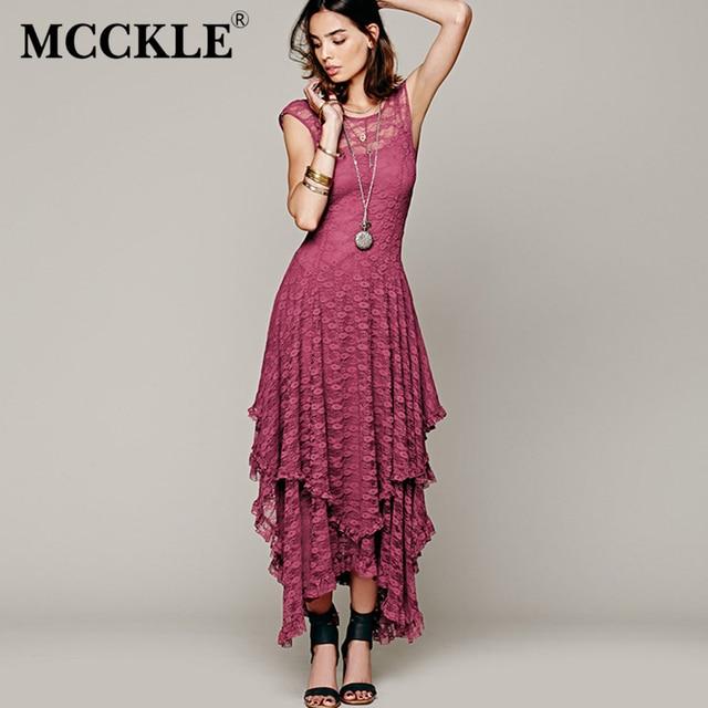 Asymmetrical Lace Maxi Dress Summer Hippie Style Dress 1