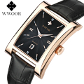 Luxury dress Men's watches business quartz-watch quartz watch men vintage relogio masculino Rectangle leather strap