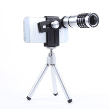 Cheaper ZEALLION Universal 12X Zoom Telephoto Telescope Camera Lens + Mini Tripod For iPhone Samsung