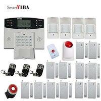 SmartYIBA Gsm сигнализация 433 МГц Громкая красная Стробоскопическая Сирена + Тревожная кнопка беспроводной SMS сигнализация открытой двери