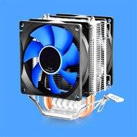 80X80X25mm Double Fan CPU Cooler Fan Double Heatpipe Aluminum Heat Sink Cooling Fan Radiator For LGA1156