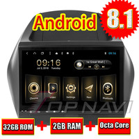 Car PC GPS Navigation Android 8.1 for Hyundai ix35 2010 10.1'' Topnavi Android Big Screen Auto Multimedia with Bluetooth WIFI 3G