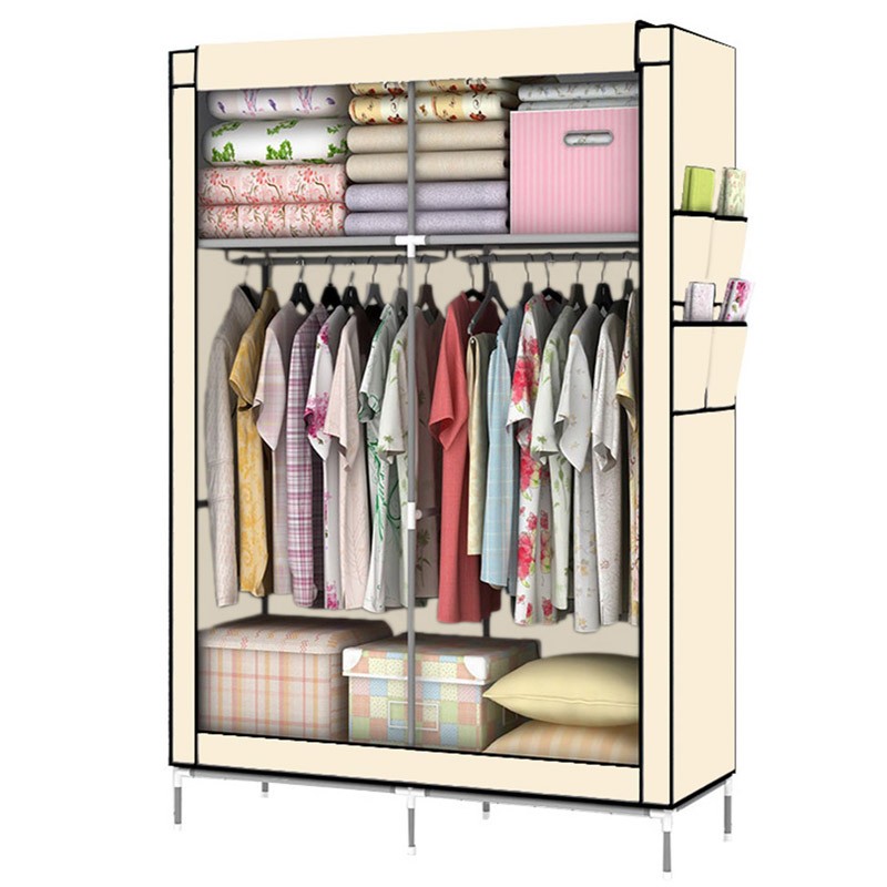 YOUUD DIY Assamble Portable Clothes Closet Wardrobe Fabric Clothes Storage Organizer ...
