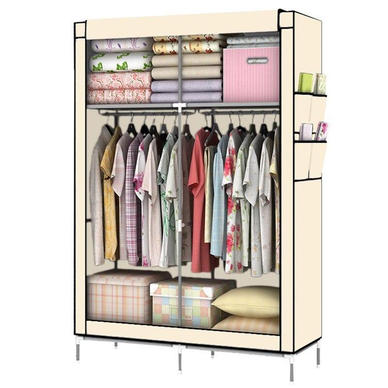 YOUUD DIY Assambled Portable Clothes Closet Wardrobe Fabric Clothes Storage  Organizer(China)