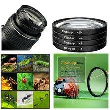 46mm conjunto de filtro close up e caixa de filtro (+ 1 + 2 + 4 + 10) para nikon z50 w/16 50mm lente/olympus PEN F w/m. lente zuiko 17mm f1.8