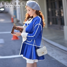 dabuwawa 2016 jacket thickening casual cute long sleeved warm streetwear winter coat 2016 pink doll