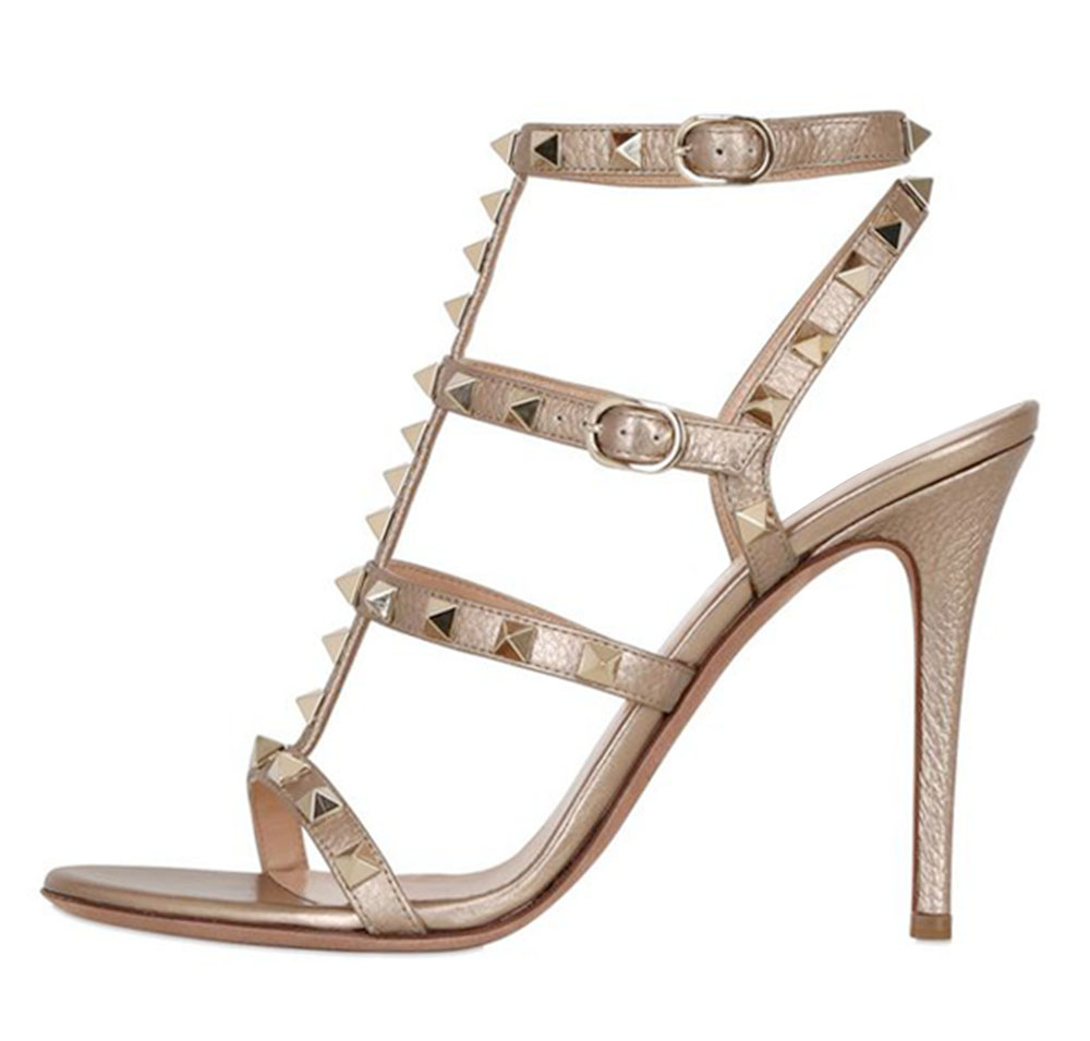 Hot! Inisastyle 2016 New fashion Women's shoes Summer stiletto Heel Sandals Gladiator Studded Pumps plus Size 4-15 Free Shipping 2016 spring and summer free shipping red new fashion design shoes african women print rt 3
