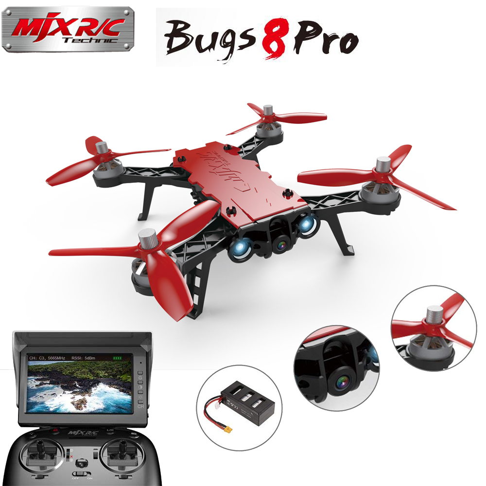 MJX B8PRO RC Quadcopter with 5.8G 720P 720P Camera Brushless Motor Angle/Acro Mode Switch High Speed RC Racing Helicopter Drone