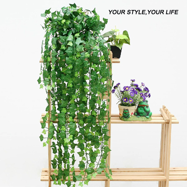 Flowers Decoration For Home: New 8.2 Feet Artificial Ivy Leaves Flower Vine Home Decor