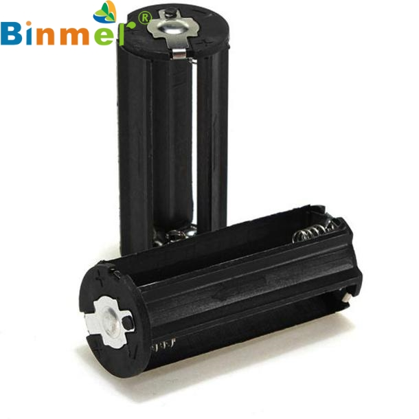 Binmer Simplestone Black Cylindrical 3 AAA Plastic Battery Holder Adapter Case Box Flashlight Lamp 0117 car digital led thermometer voltmeter auto usb charger battery monitor temperature gauge l15