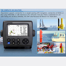 4.3″ LCD Class AIS Transponder marine ais receiver Rechargeable gps for boat fish finder  GPS Tracker Navigator transmitter