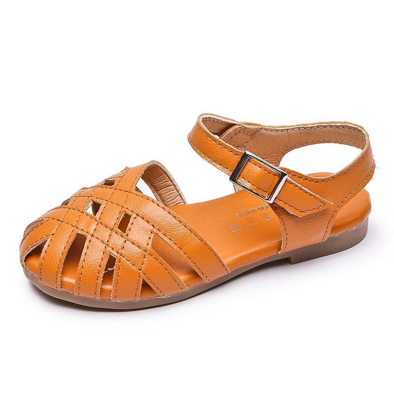 AFDSWG kids shoes summer black Openwork woven sandals girls sport ,sandals for toddler
