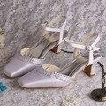 Wedopus Personalizado Handmade Mulher Do Dedo Do Pé Aberto Sapatos de Casamento Da Noiva com Cunha