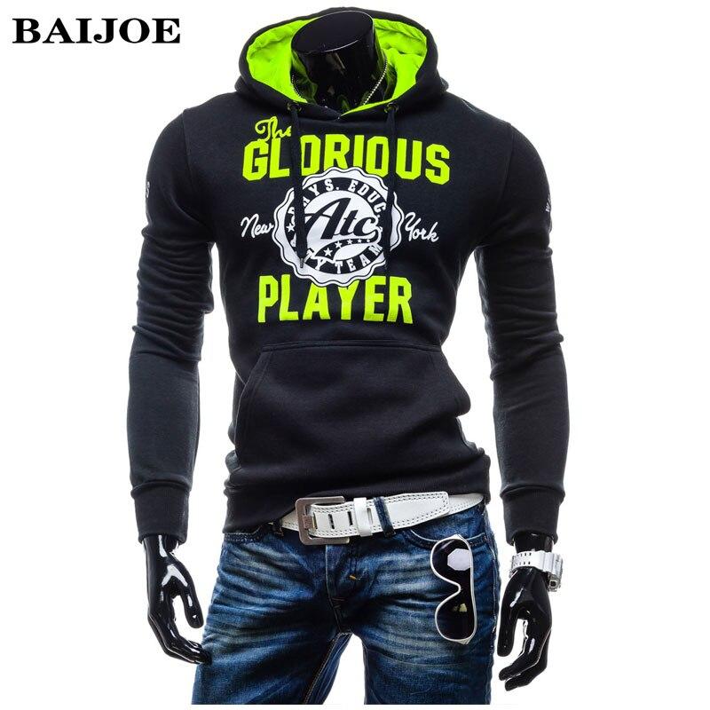 BAIJOE Brand Men Hoodies 2017 New Arrival European style Brand Hoody Men sweatshirt hip hop Casual Pullovers Hoodie Tops