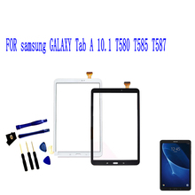 цена на Touch Screen Panel For Samsung Galaxy Tab A 10.1 2016 T580 T585 T587 Touch Screen Digitizer Sensor Glass Panel Tablet Replacemen
