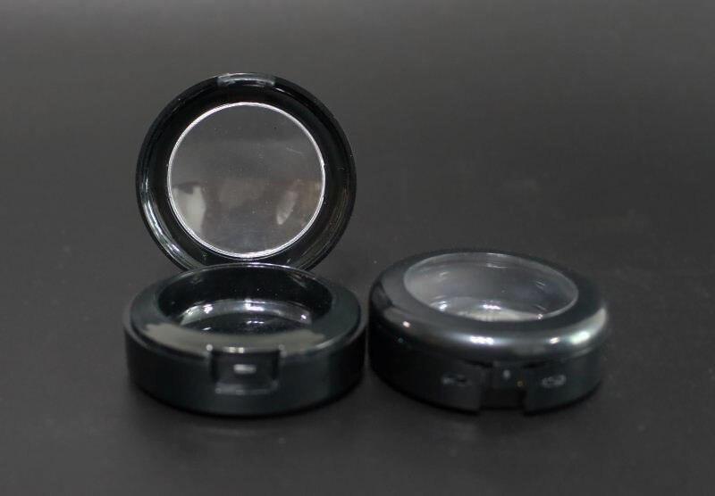 100 pces 10g caixa vazia da sombra com tampa preta da borda