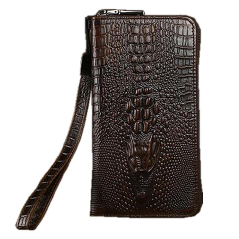 New Brands Clutch Bag Men Wallets Black Brown Luxury Large Capacity Gift for Male Double Zipper Long Wallet Handbag Purse ноутбук hp 15 bs027ur 1zj93ea core i3 6006u 4gb 500gb 15 6 dvd dos black