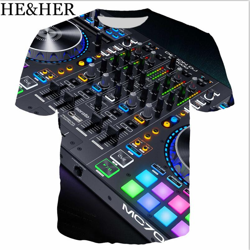 Sound Activated LED 3D Print T Shirt Light Up And Down Flashing Equalizer EL T-Shirt Men Rock Disco Party DJ Tshirt Boy Clothes