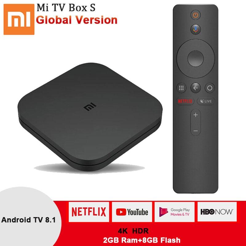 Xiao mi mi tv BOX S, 4K HDR Android 8.1 2.4G/5.8G WIFI BT 4.2 Strea mi ng Media Player Google Cast netflix Box IPTV Versione Globale-in Set box TV da Elettronica di consumo su AliExpress - 11.11_Doppio 11Giorno dei single 1