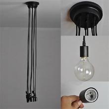 E27 Vintage Spider Led Ceiling Light Mutil Arms Lustres with Loft Adjustable Lamparas