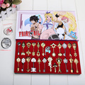 Cos conjunto Fairy Tail Lucy 24 unids/set clave llavero libre de escala de color rosa del tatuaje Heartfilia signos del zodiaco la llave dorado