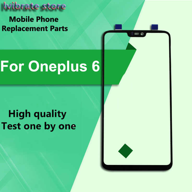 For Oneplus 6 Front Outer Glass Lens Touch Panel Screen Oneplus6 LCD Touch Glass For One plus 6 A6000 touchscreen Digitizer