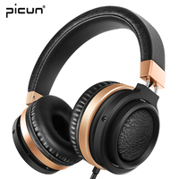 Picun C9 Over Ear Big Earmuffs Wired Headphones Gaming Stereo Strong Bass Headset With Mic Volume