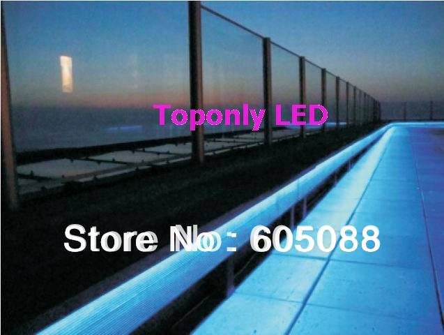 Ip68 waterproof outdoor linear lighting dc24v tpu flexible led strip white color 230lm m topview for Exterior linear led sign light