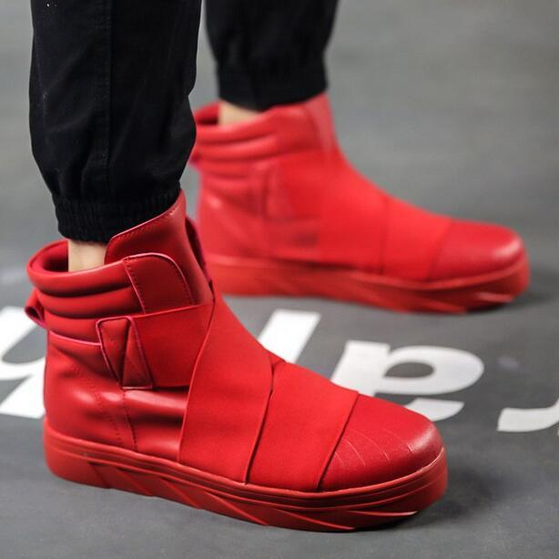 Mens Korean Designer Fashion High Tops Sneakers Shoes