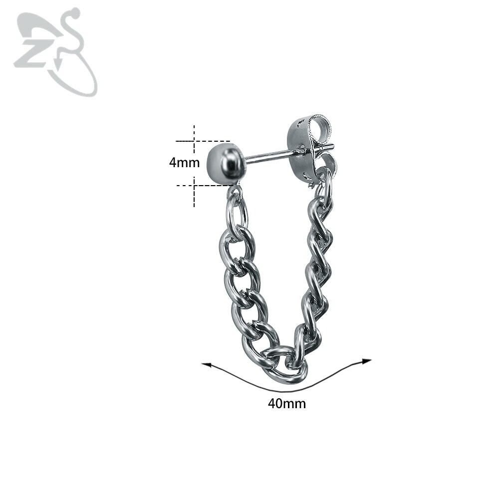G-dragon bts Men Ear Stud Silver Tassel Earring Helix Piercing Rock Punk Kpop bts GD Earrings for Man Male Accessories Chains