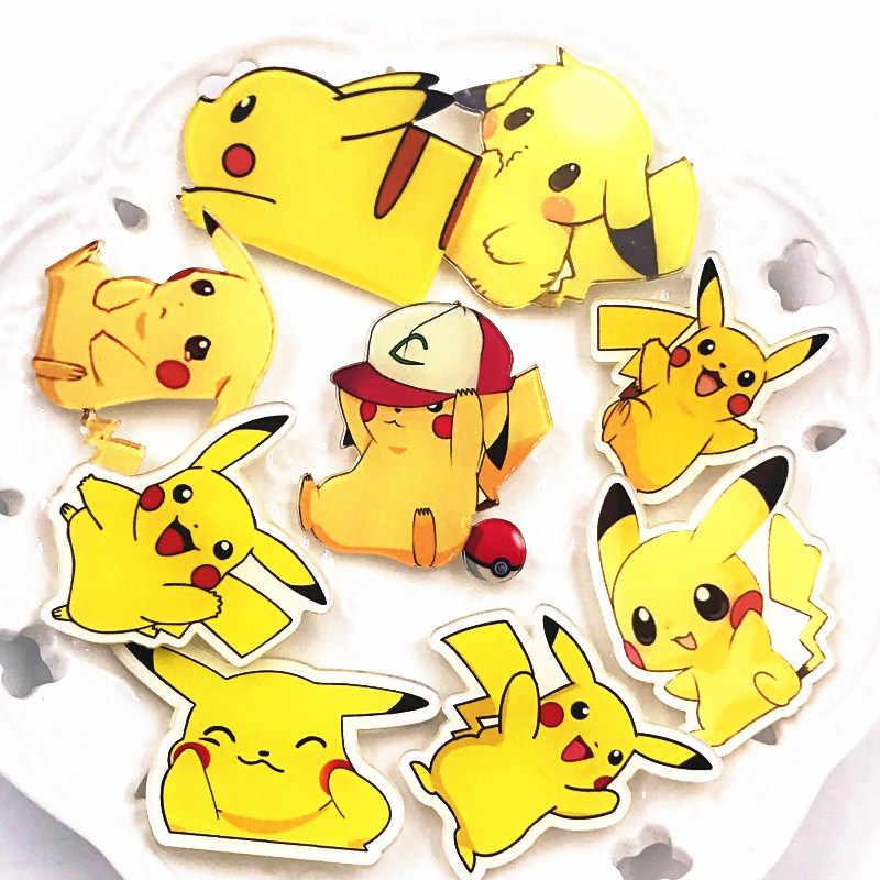 1 Pcs Baru Anime Lucu Ikon Bros Pikachu Acrylic Pin Kualitas Tinggi Lencana untuk Aksesoris Pakaian Anak Laki-laki/Perempuan hadiah