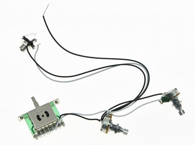High quality Guitar Prewired Wiring Harness Alpha 500K 16mm Pots 1