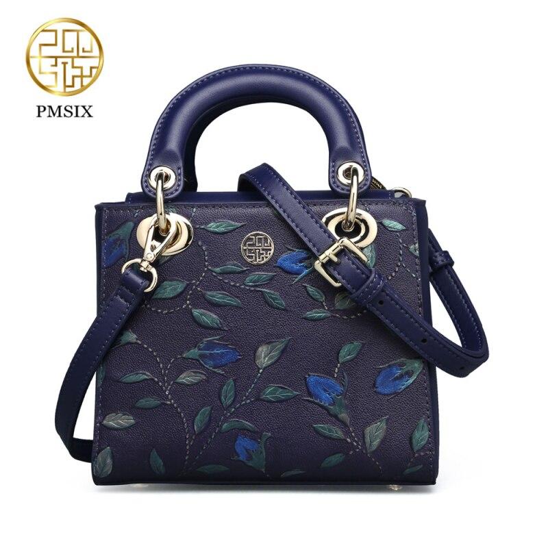 Pmsix 2018 для женщин пояса из натуральной кожи сумка мини тиснение дамы коровьей кожаные сумочки дизайнер Crossbody повседневное сумки