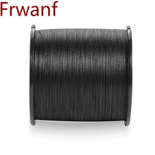 Frwanf Super never faded black color braided pe fishing line 500M 1000M Multifilament 8 Strands 10 20 30 40 50 60 130 150 300LB