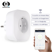 Smart Plug Wifi Smart Socket Power Monitor EU UK Voice Remote Control Home Automation Plug Work with Google Home Alexa IFTTT USB wall socket home security alexa compatible surge protection zigbee home automation solution smart metering plug