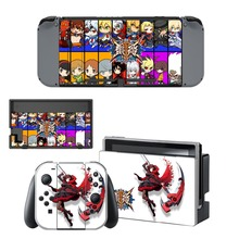 BLAZBLUE CROSS TAG BATTLE Decal Vinyl Skin Sticker for Nintendo Switch NS Console + Controller Stand Holder Protective