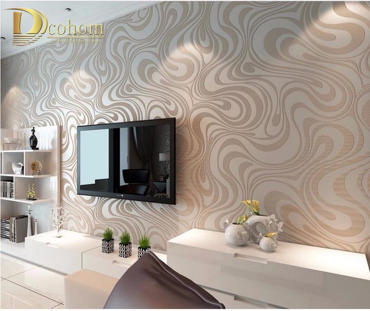 Wysokiej jakości 0.7 m * 8.4 m nowoczesny luksus 3d tapety rolki mural papel de parede uciekają na paski ściany papier 5 kolor r136 6