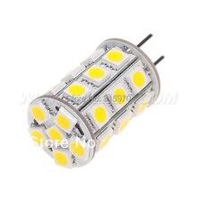 Free Shipment !!! Led G6.35 Lamp Lighting Bulb 12VAC/12VDC/24VDC 27pcs of 5050SMD 4W Dimmable White Warm