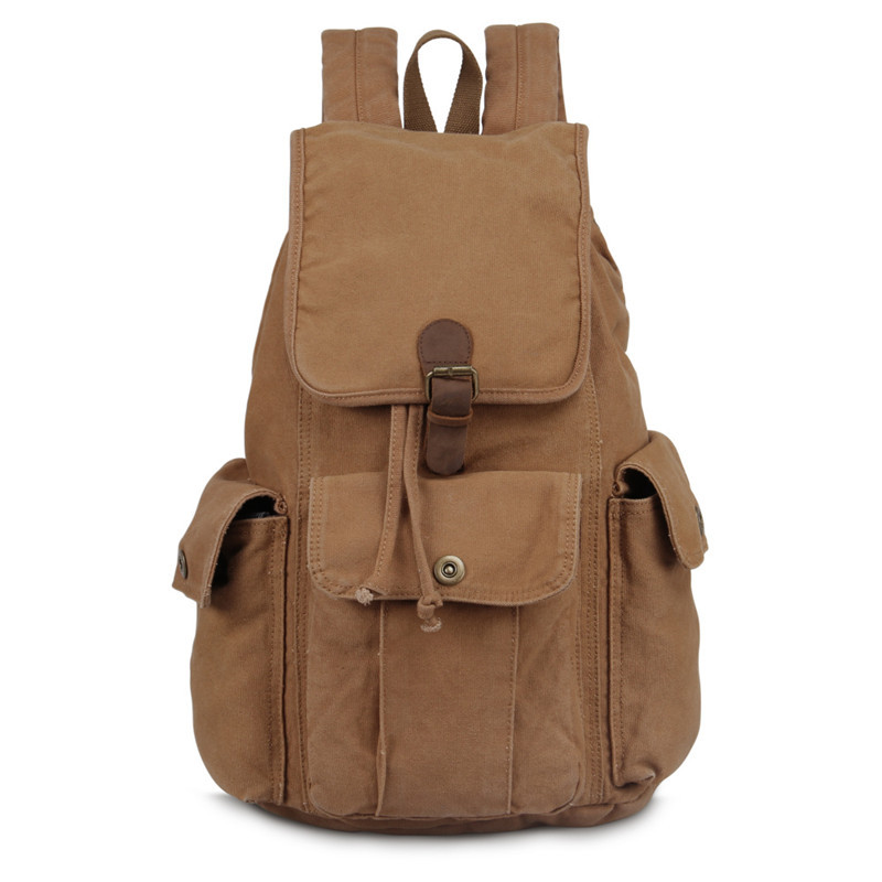 2016 Vintage Canvas Backpack For Teenagers Shoulder Bags Laptop Travel Black Backpack Fashion