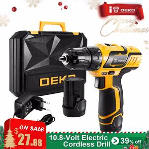 ada7d006c0aec3 DEKO 10mm Cordless Drill 2-Speed Mini Wireless Power Driver DC Lithium-Ion  Battery