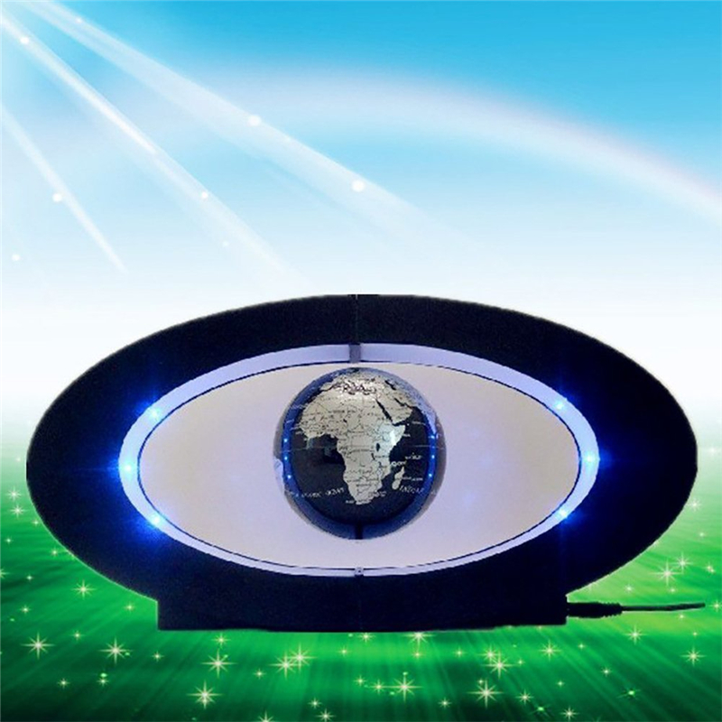 2017 Lamparas New Novelty Decoration Magnetic Levitation Floating Globe World Map With Led With Electro Magnet And Field Sensor