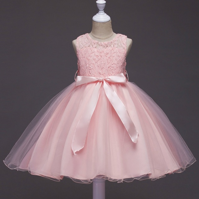 5 colors Girls clothes Princess Dresses Party and Wedding Baby ...