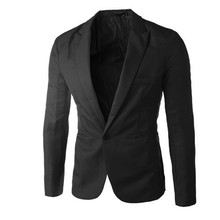 Гламурные мужские белые черные розовые синие повседневные тонкие кнопки пряжки весна осень Блейзер Куртка мужская мода