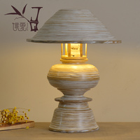southeast table lamp Thai spa designer bedside lamp bamboo Table lights manual bedroom lamp desk lamp led reading light LU823417